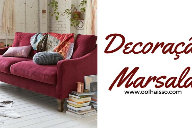 como fazer decoração marsala na sua casa