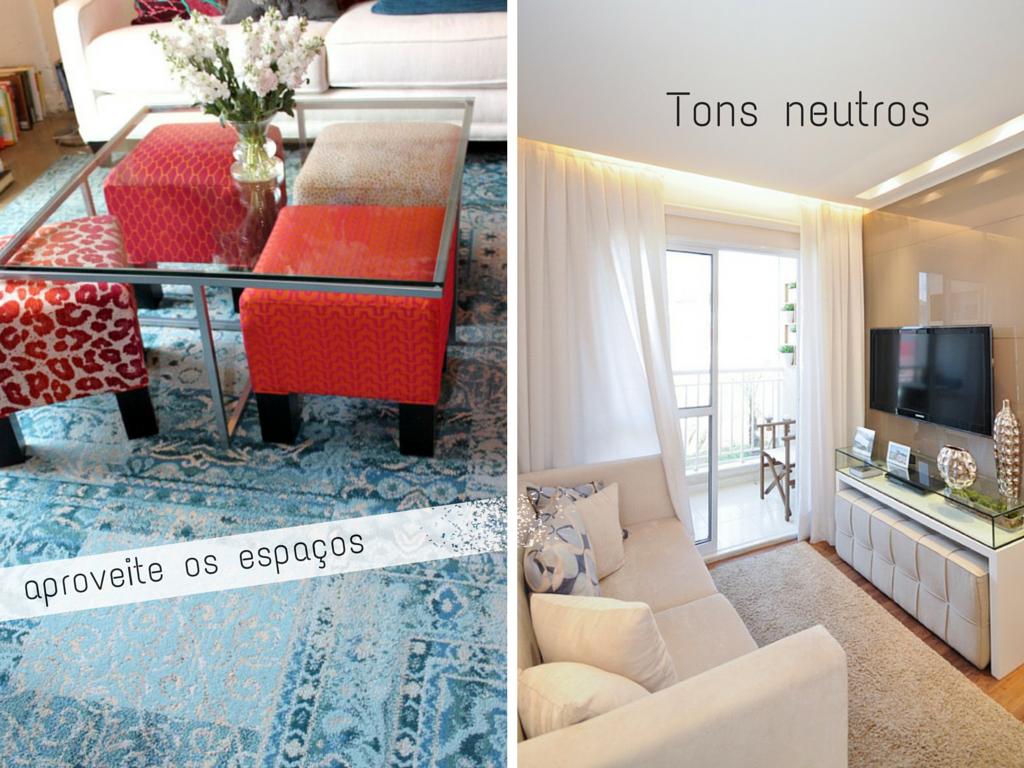 Sala pequena - dicas para decorar com estilo | Tallita Lisboa Blog