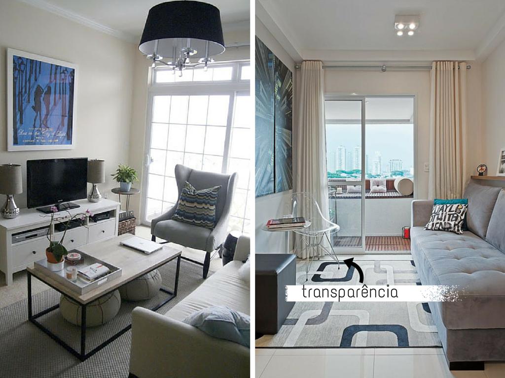 Sala de estar pequena com sofa cinza id ias for Salas pequenas para casas pequenas