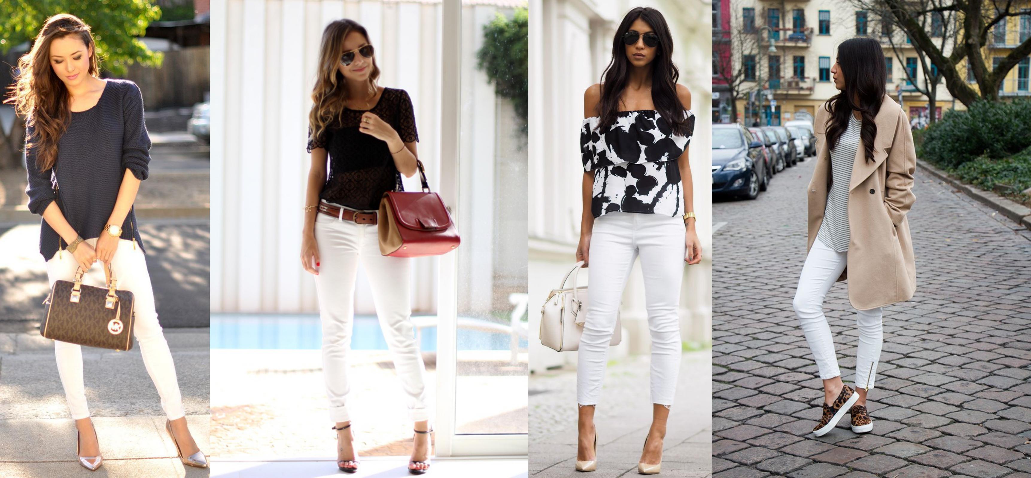favoritas da mulheres e com a calça branca skinny dá pra criar looks ...