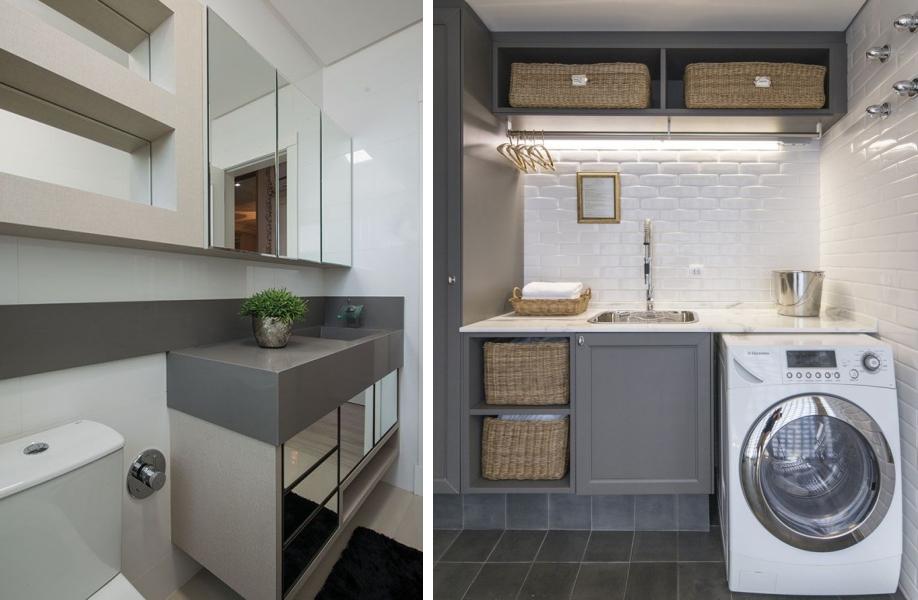 10 ideias para usar Cinza na decoração  Sofisticado e neutro  Tallita Lisbo -> Decoracao De Banheiro Na Cor Cinza