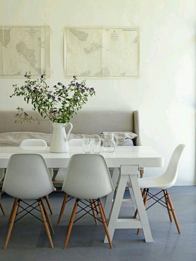 Mesa cavalete 5 inspira231245es para decorar a sua casa  : mesa cavalete branca para sala de jantar from www.oolhaisso.com size 671 x 895 jpeg 82kB