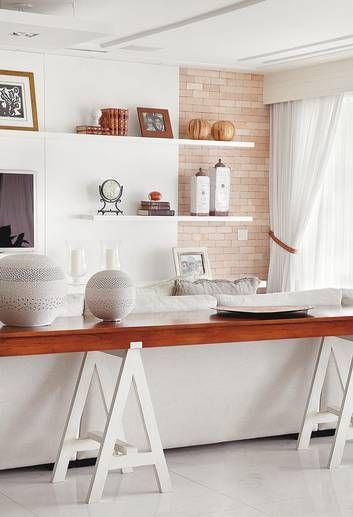 Mesa cavalete 5 inspira es para decorar a sua casa - Mesa aparador ikea ...