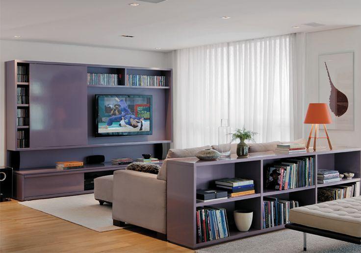 Sala De Estar Cinza E Lilás ~  do sofá e faz um L Serve também para apoio e decoração, amei