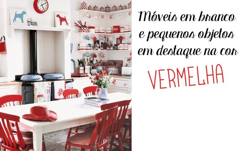 como usar vermelho na cozinha - nas cadeiras