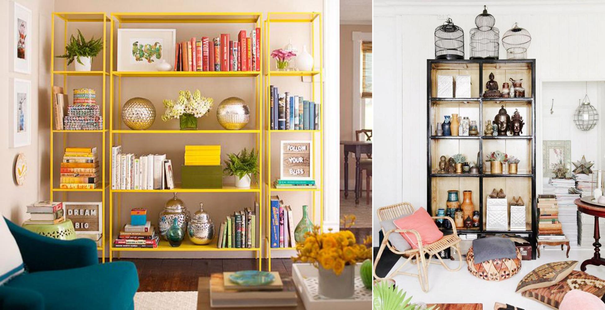 10 maneiras de usar decoração com estantes Tallita Lisboa Blog #044D5D 1951x1000