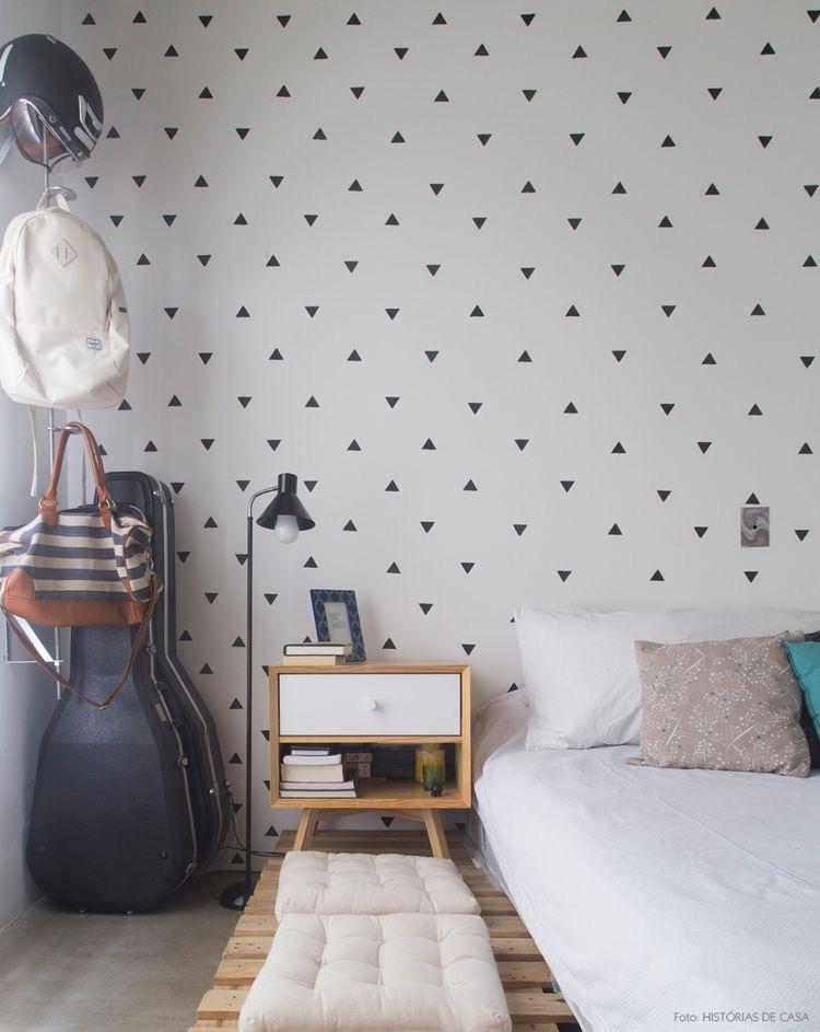 Decoração minimalista para quarto de casal  Tallita Lisboa Bl