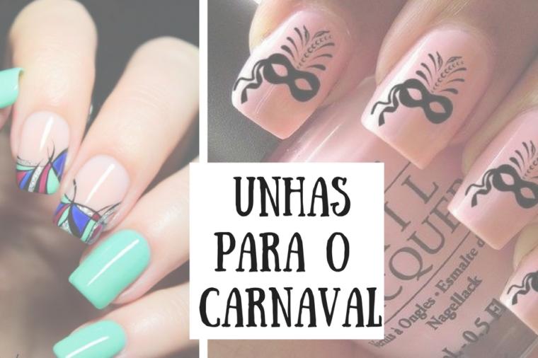 Unhas para carnaval, unha decorada carnaval.