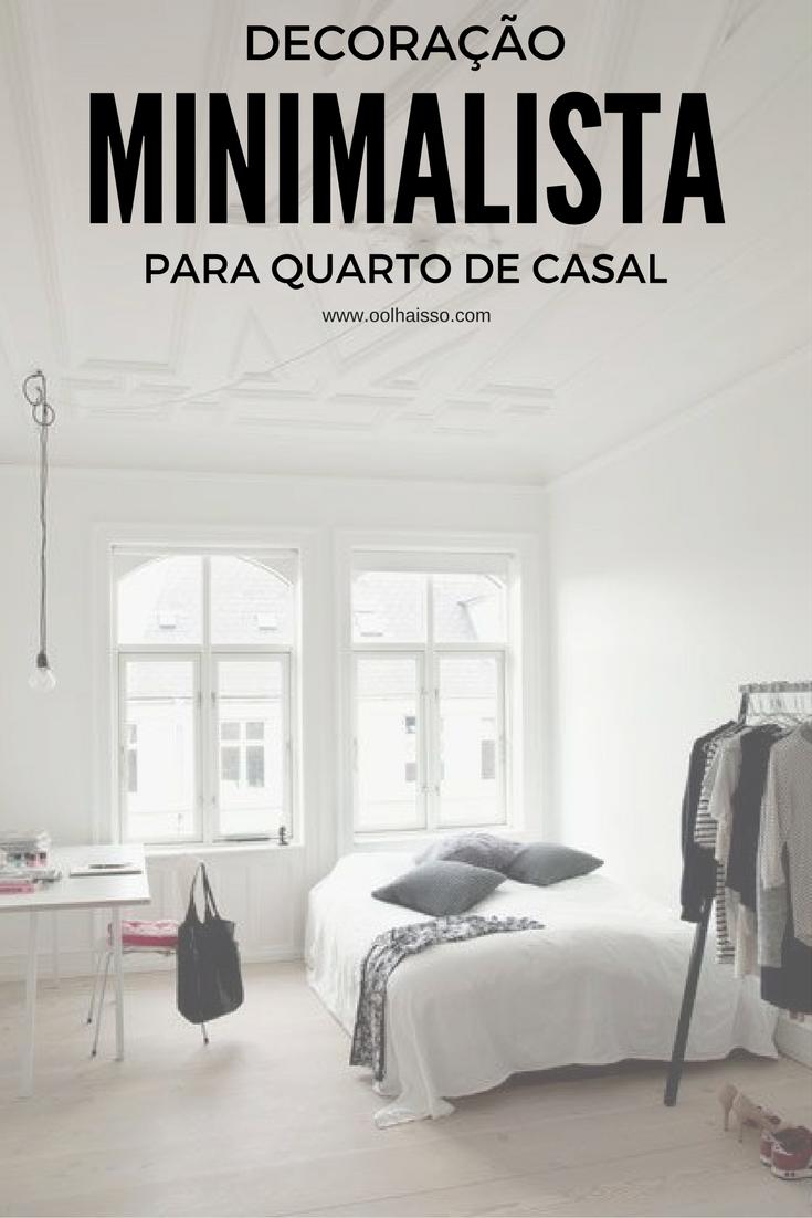 Decora o minimalista para quarto de casal tallita for Casa minimalista blog