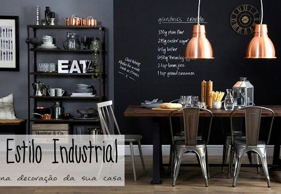 Decora o industrial como fazer na sua casa tallita - Escritorio estilo industrial ...