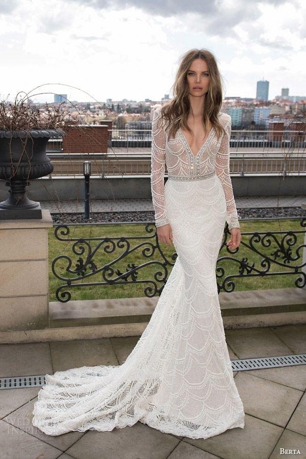 vestido de noiva decotado manga comprida - blogoolhaisso