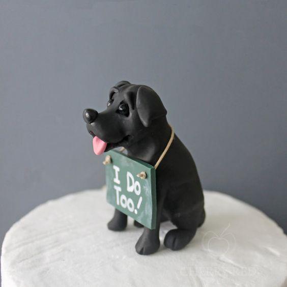 topo de bolo casamento divertido cachorro