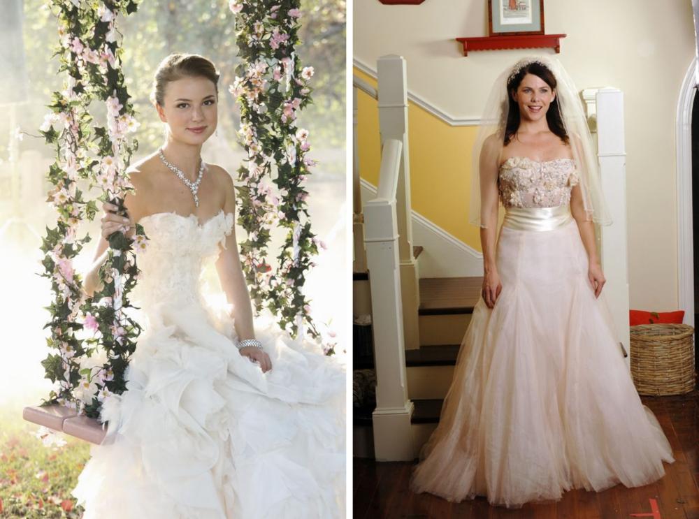 vestidos de noivas dos seriados-emily thorne revenge e loreail gilmore girl