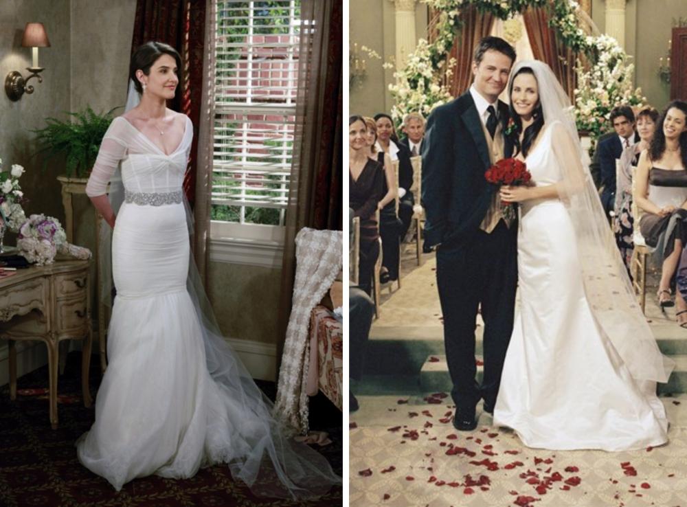 vestidos de noivas dos seriados-robin HIMYM e monica geller friends