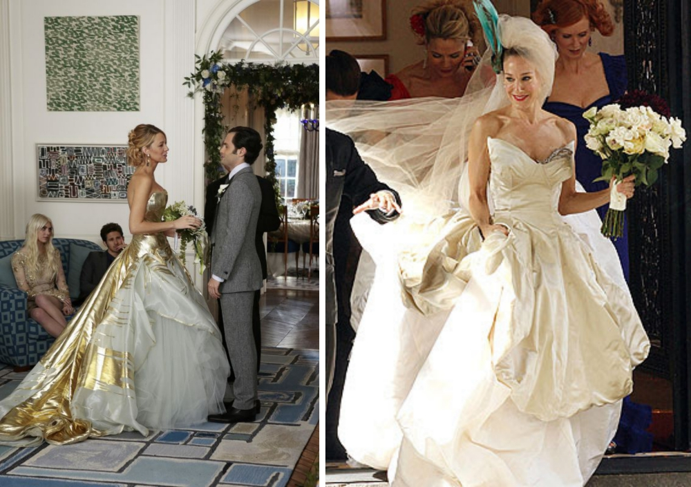 vestidos de noivas dos seriados-serena van der woodsen gossip girl e carrie sexy and the city