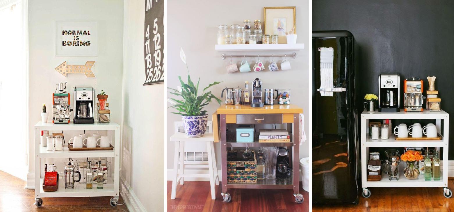Caso o seu apartamento não tenha espaço na cozinha, opte por usar