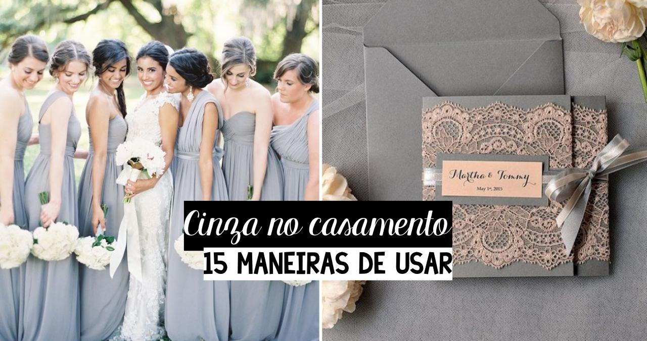 15 maneiras de usar cinza no casamento