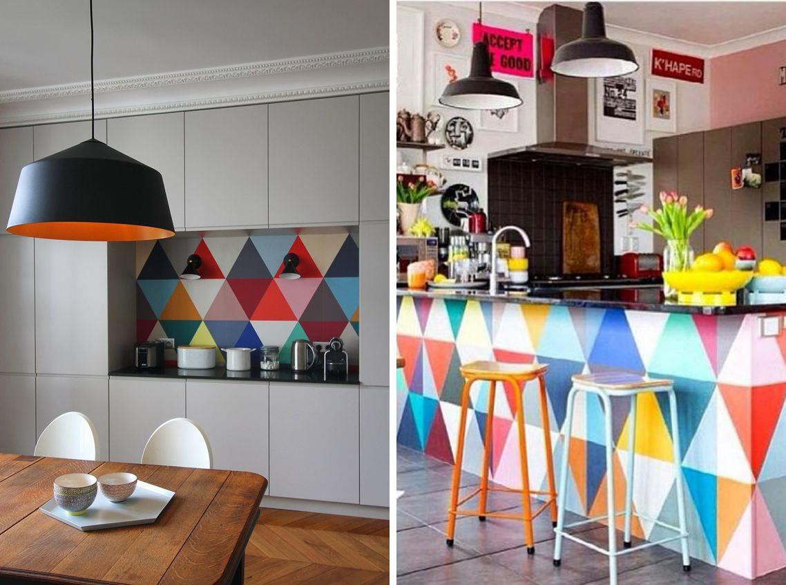 Aparador Jantar ~ Adesivo de parede em forma de tri u00e2ngulo Tallita Lisboa Blog