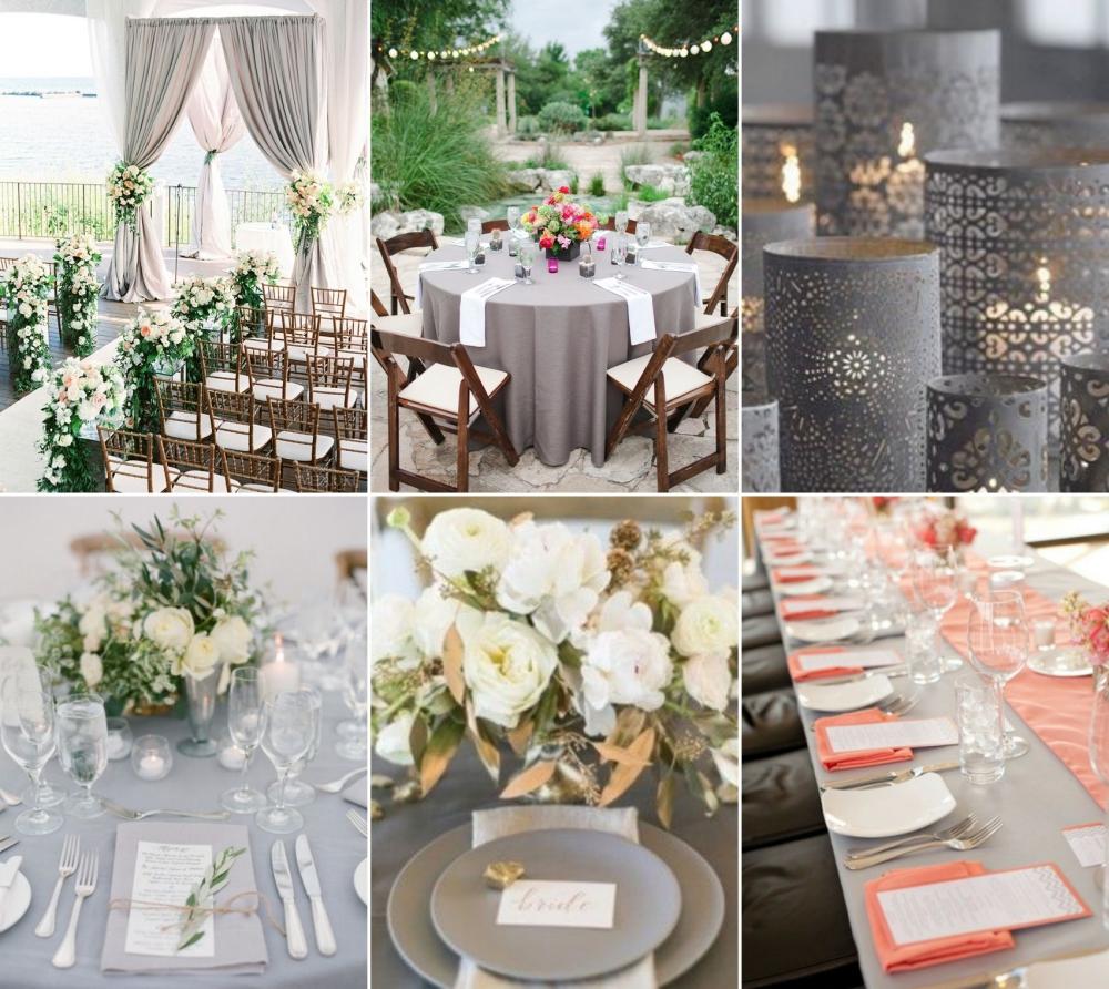 cinza no casamento decoracao