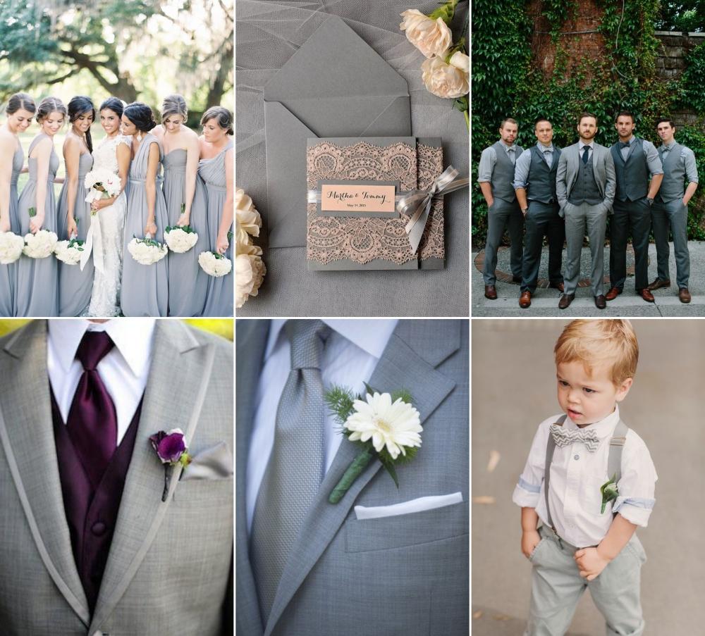 cinza no casamento noivos padrinhos e madrinhas