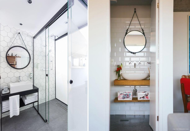 Decoração com espelhos como fazer?  Tallita Lisboa Blog -> Decoracao De Banheiros Sociais