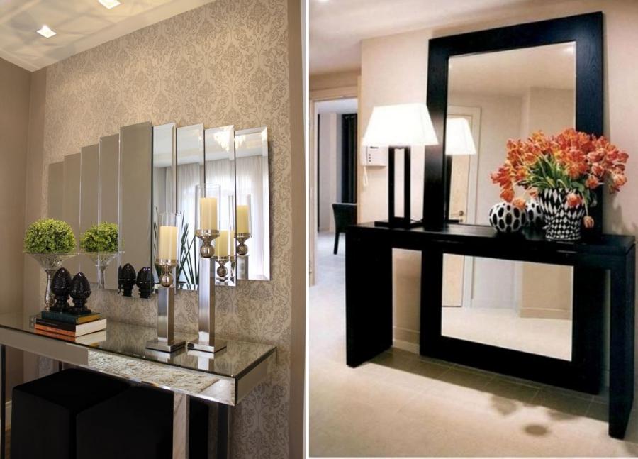 Aparador Com Espelho Na Parede ~ Decoraç u00e3o com espelhos como fazer? Tallita Lisboa Blog