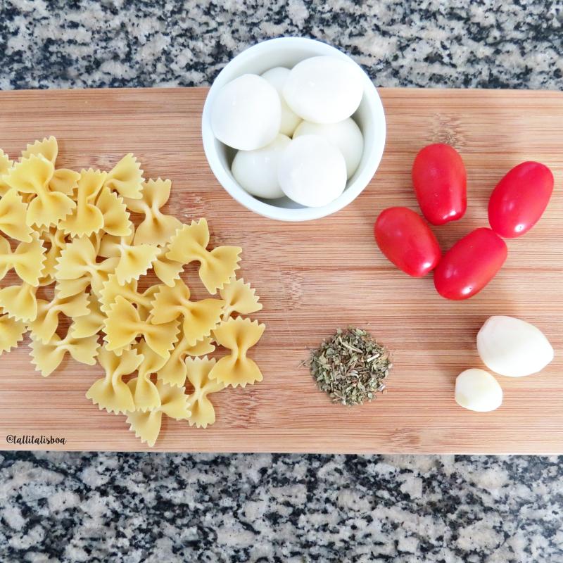 ingredientes-receita-farfalle-caprese
