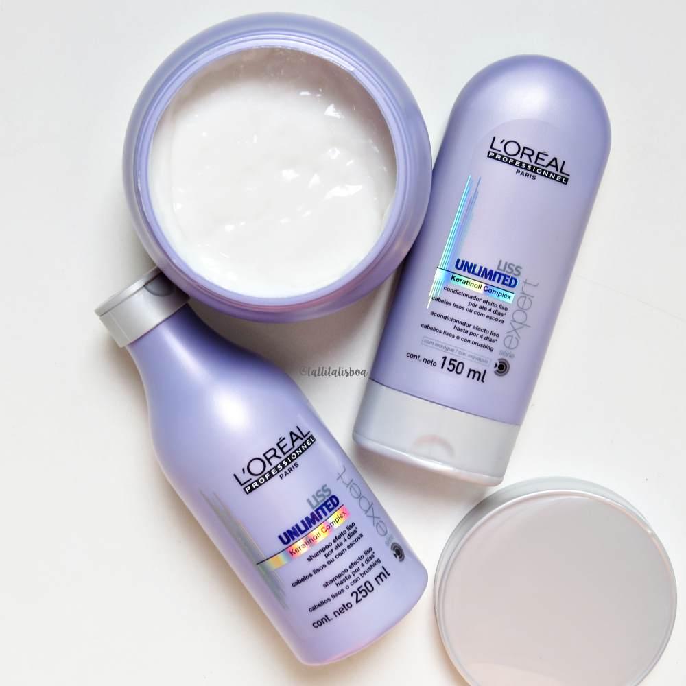 Linha Liss Unlimited L'oréal para cabelos lisos