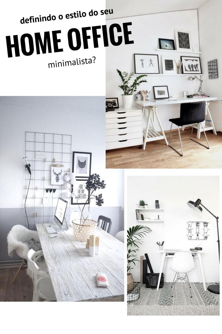 definindo o estilo de decoração do home office minimalismo