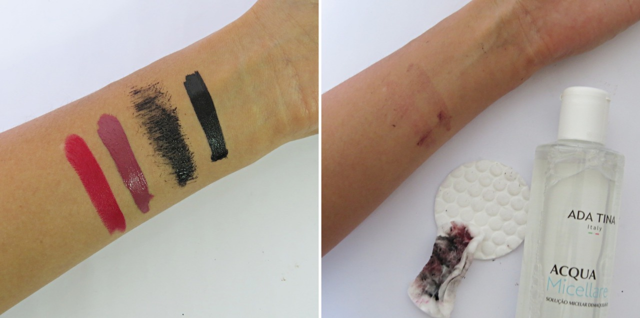 agua micelar ada tina acao para remover maquiagem
