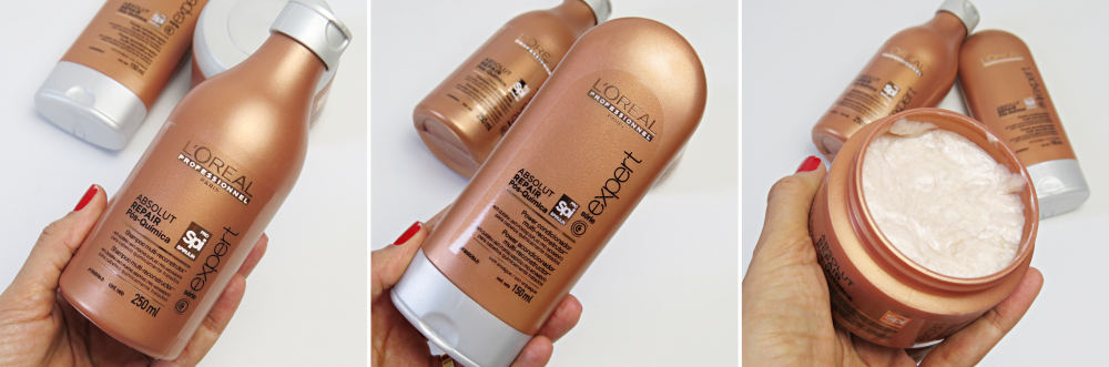 linha absolut repair loreal shampoo condicionador e mascara