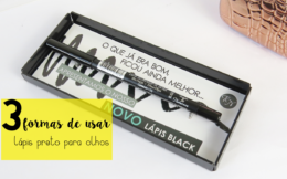 3 formas de usar lapis de olho preto