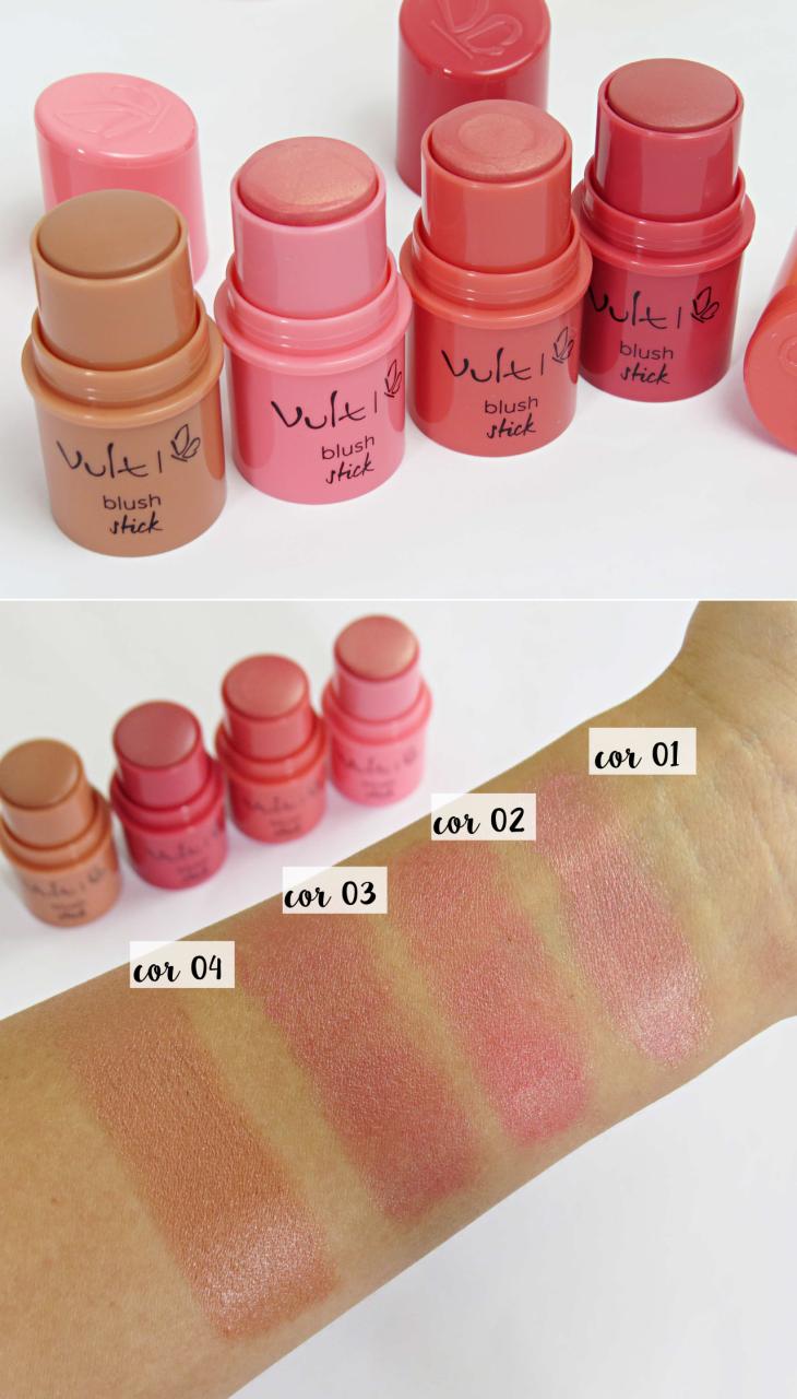 como fazer contorno facial - blush stick vult