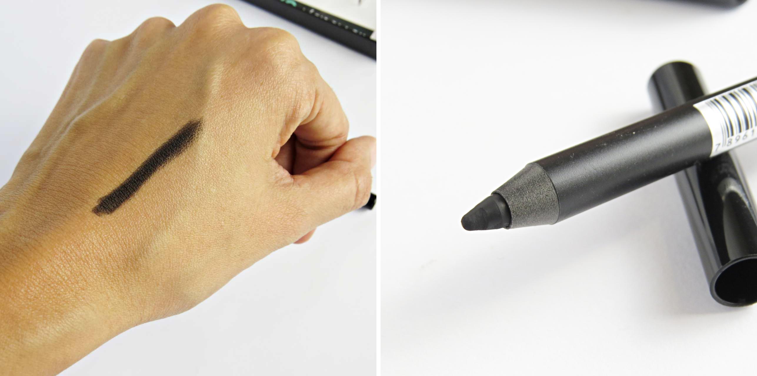 lápis para olhos preto toque de natureza textura