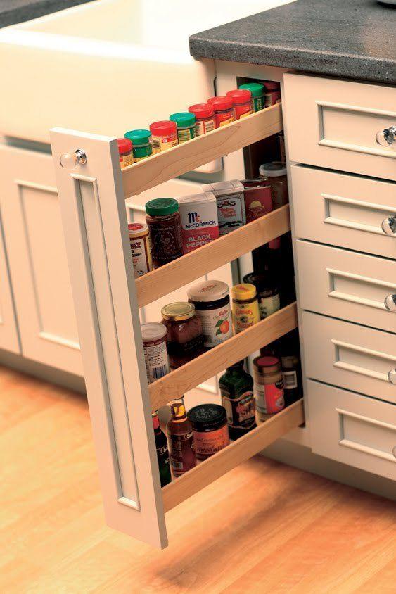 armario de cozinha pratico com porta temperos
