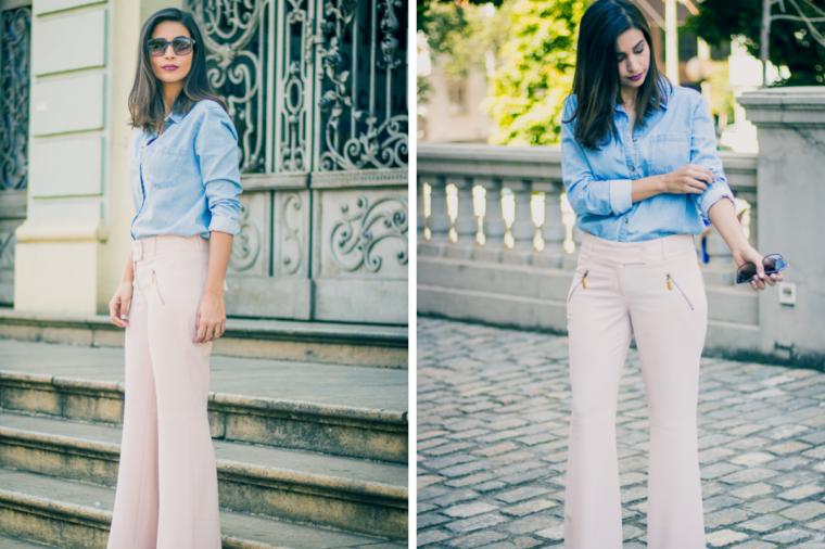 look calca pantalona rosa millennial capa
