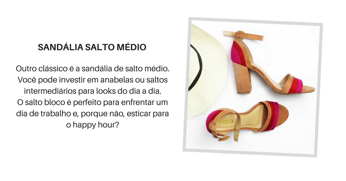 5 sapatos essenciais - sandalia salto