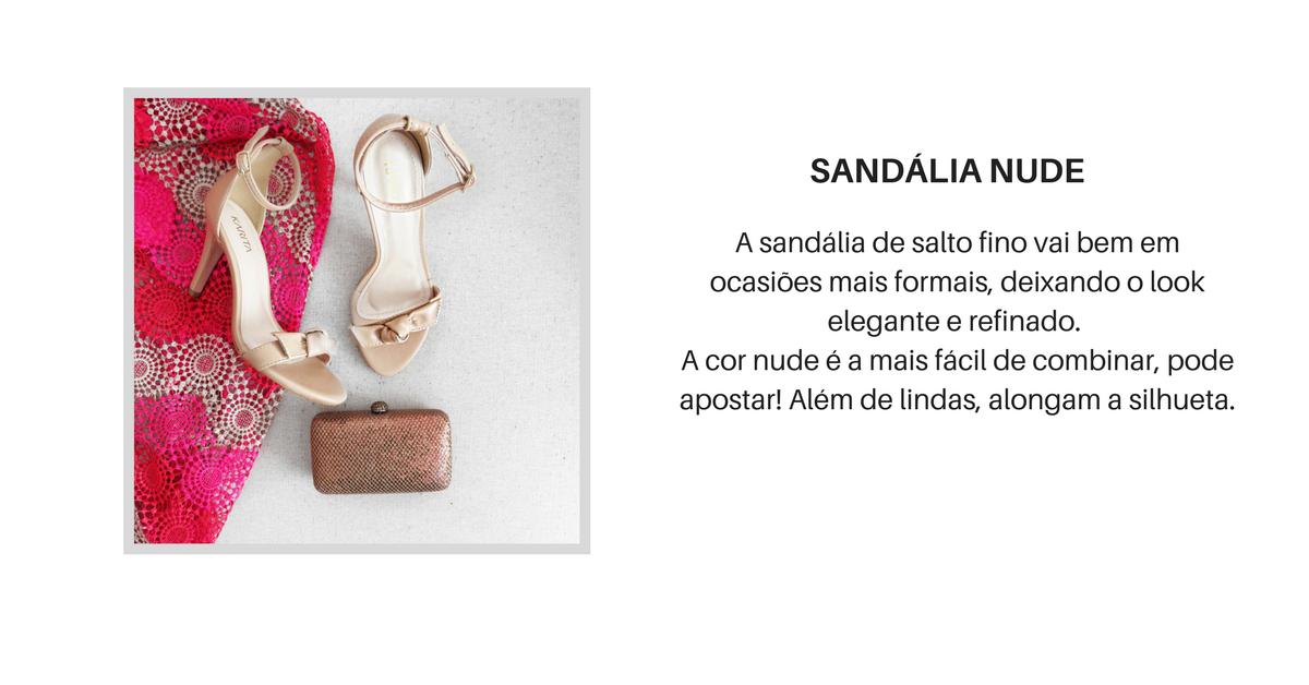 5 sapatos essenciais - sandalia nude salto fino