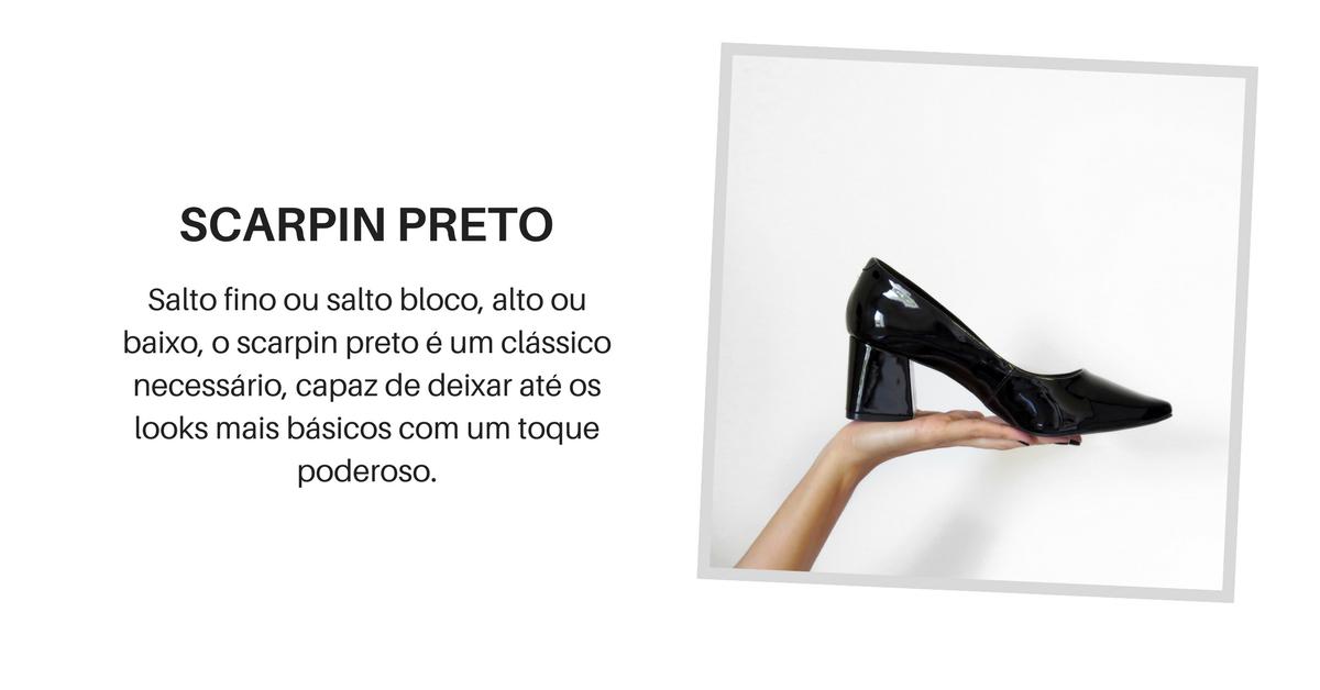 5 sapatos essenciais - scarpin preto