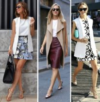 como usar colete com saia e vestidos