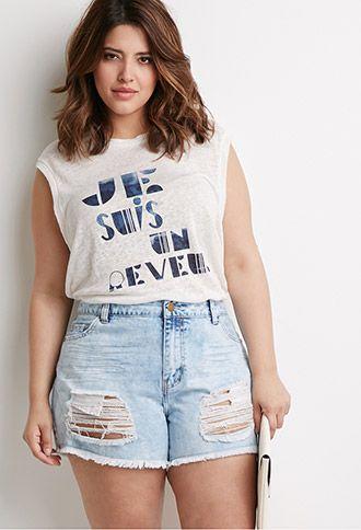 look modelo de short jeans cintura media
