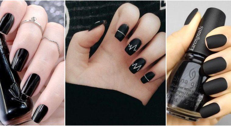 5 cores de esmaltes curinga - preto