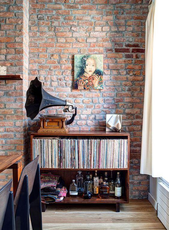 decoração com discos de vinil como organizar vinil em casa