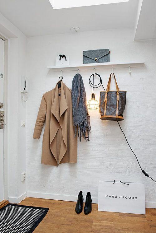 hall de entrada inspiração apartamento branco