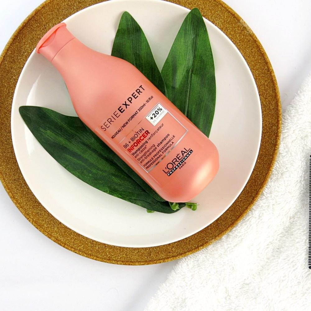 linha para crescimento capilar inforcer loreal shampoo