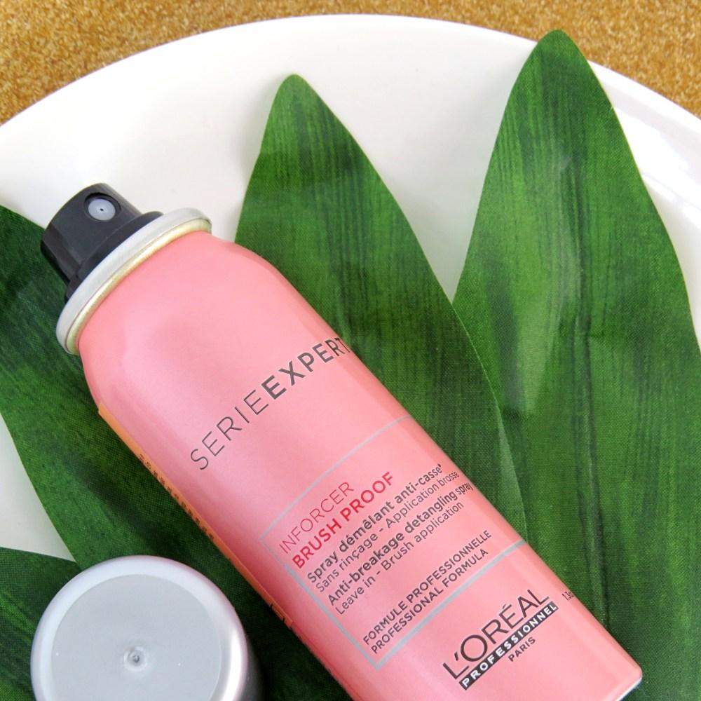 linha para crescimento capilar inforcer loreal spray pre escova