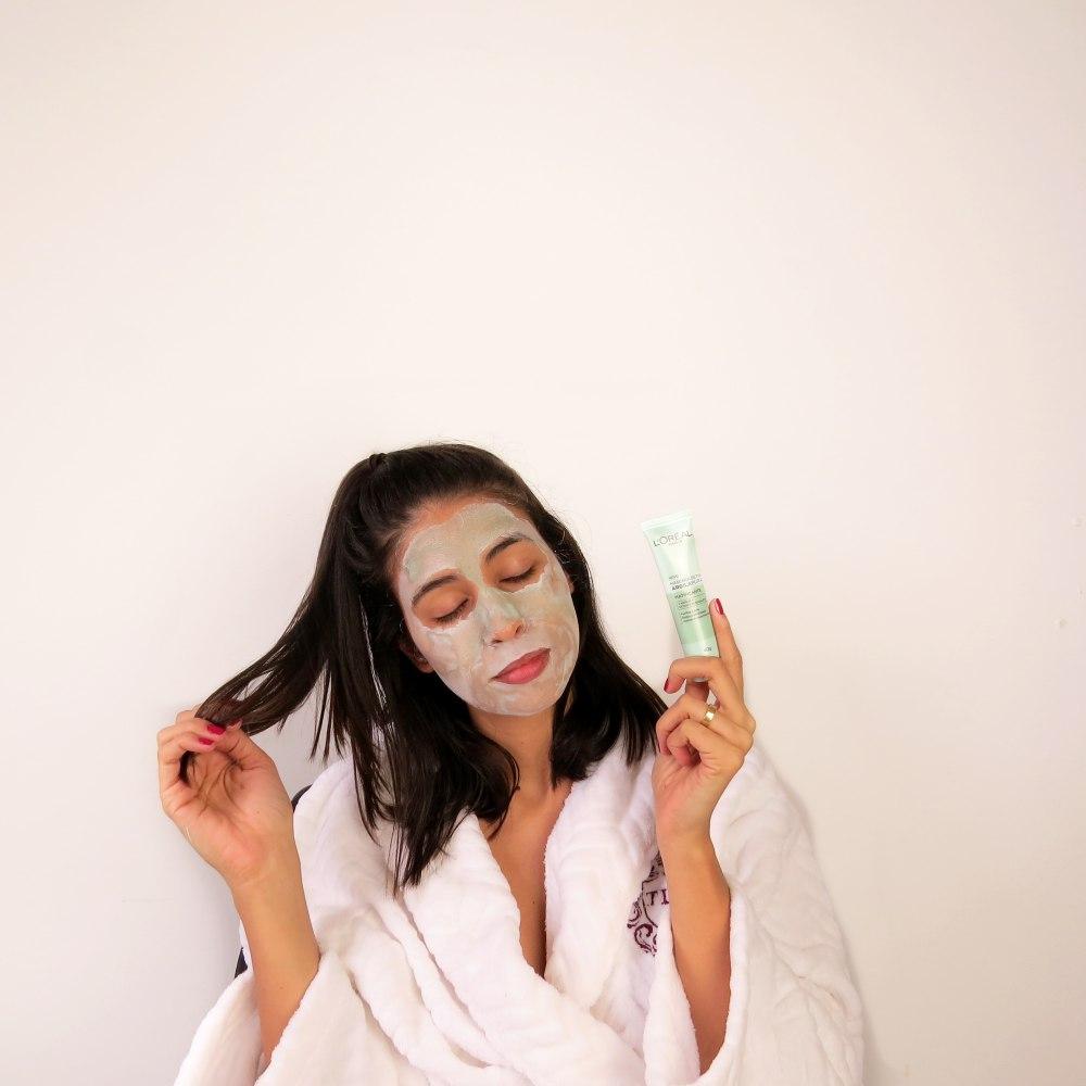 mascaras argila pura loreal detox matificante verde
