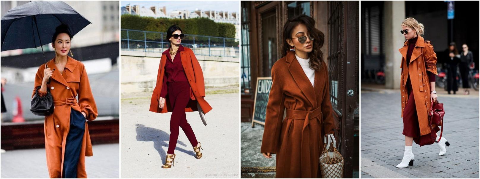 Cores para outono e inverno tendencias inverno 2019 - looks usando casaco ferrugem