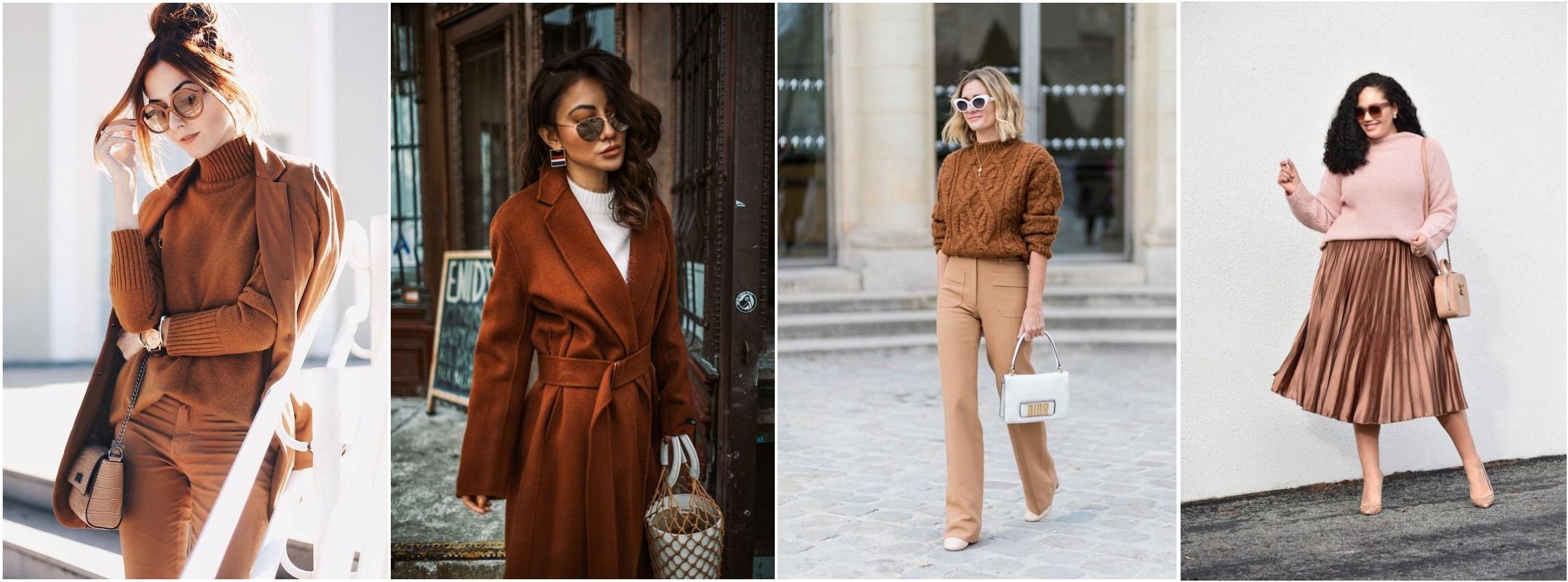Cores para outono e inverno tendencias inverno 2019 - looks usando marrom