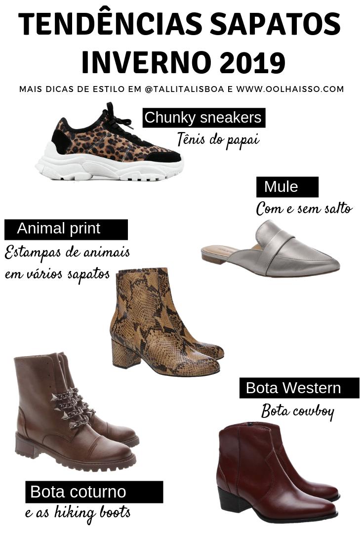 f8d5ed69c 5 Sapatos inverno 2019: tendências outono/inverno em calçados ...